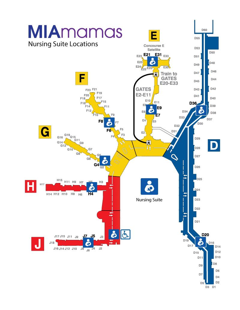 Miami Airport Map Nursing Suites   Miami International Airport Miami Airport Map
