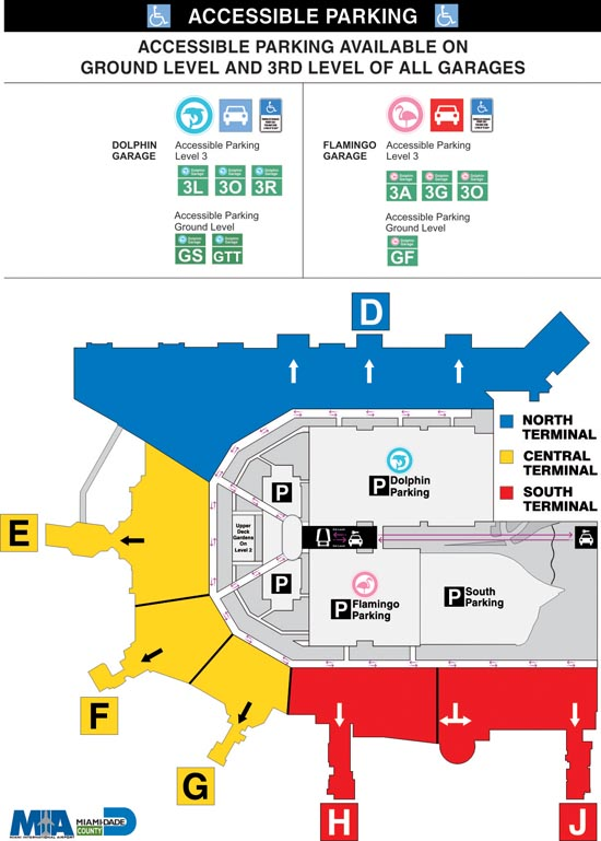 Map Of Miami Airport Where to Park   Miami International Airport