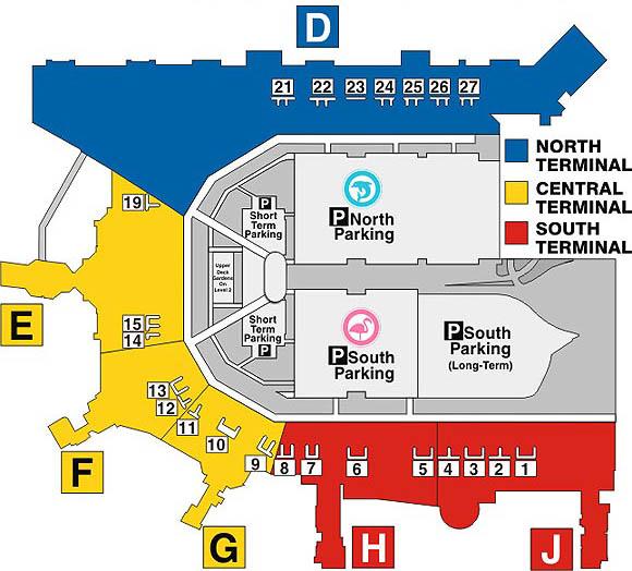 Miami Airport Terminal Map Maps   Miami International Airport