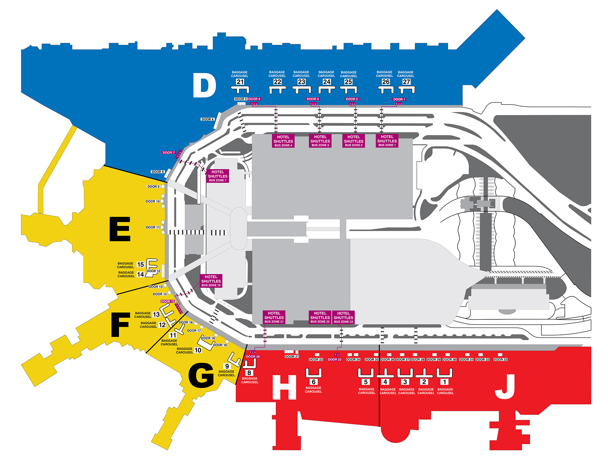 Hotel Shuttle Bus Pick Up Location Map